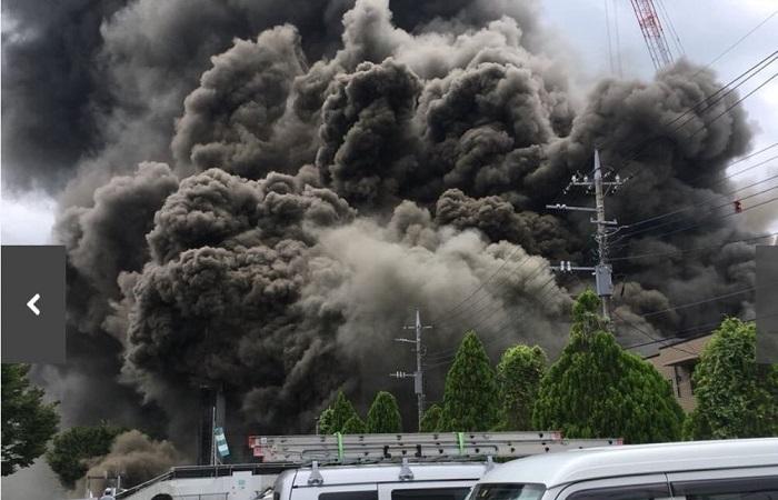 Un latino entre los heridos del incendio en una construcción de Tokio