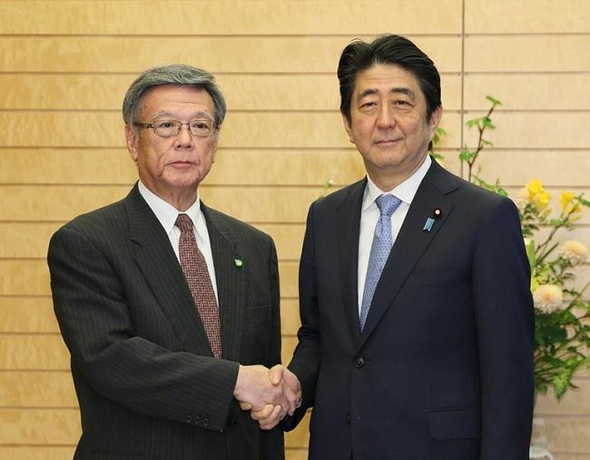 """Mainichi a Abe: no repita """"comportamiento inmaduro"""" con el nuevo gobernador de Okinawa"""
